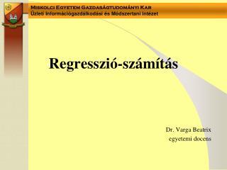 Regresszió-számítás