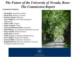 The Future of the University of Nevada, Reno: The Commission Report