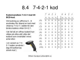 8.4   7-4-2-1 kod