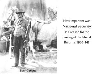 How important was  National Security as a reason for the passing of the Liberal Reforms 1906-14?