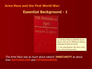 Arms Race and the First World War: Essential Background - 1