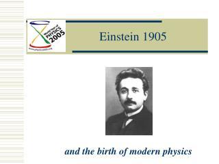 Einstein 1905