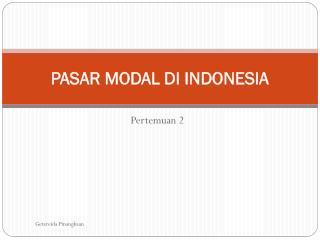 PPT - pasar modal di Indonesia, PowerPoint Presentation ...