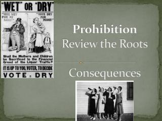 Prohibition Review the Roots Consequences