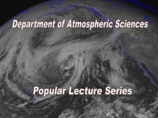 Department of Atmospheric Sciences