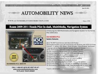 Rosen  2009-2011 Honda Pilot In- dash , MultiMedia, Navigation System