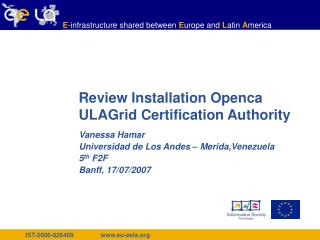 Review Installation Openca  ULAGrid Certification Authority