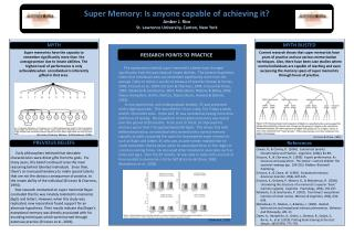Super Memory: Is anyone capable of achieving it? Amber J. Rice