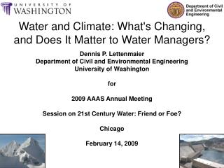 Water and Climate: What's Changing, and Does It Matter to Water Managers?