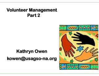Part 2 Owen Volunteer Management Part 2