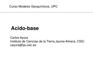 Acido-base