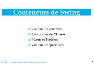 Conteneurs de Swing