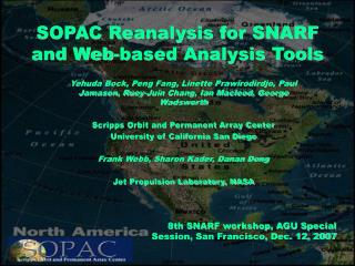 SOPAC Reanalysis for SNARF and Web-based Analysis Tools