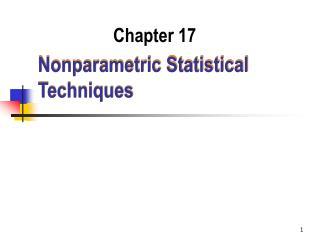 Nonparametric Statistical Techniques