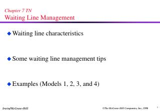 Chapter 7 TN Waiting Line Management