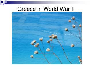 Greece in World War II