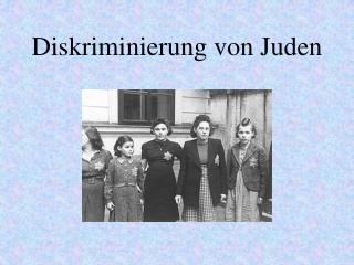 Diskriminierung von Juden