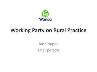 Working Party on Rural Practice