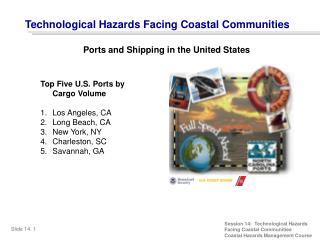 Top Five U.S. Ports by Cargo Volume Los Angeles, CA Long Beach, CA New York, NY Charleston, SC