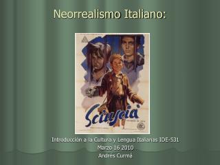 Neorrealismo Italiano :