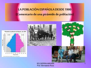 LA POBLACIÓN ESPAÑOLA DESDE 1900 (Comentario de una pirámide de población)
