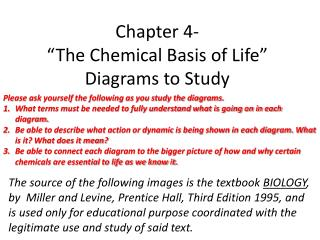 Chapter 4- �The Chemical Basis of Life� Diagrams to Study