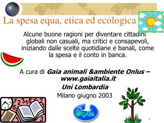La spesa equa, etica ed ecologica