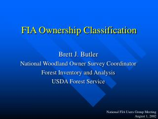 FIA Ownership Classification