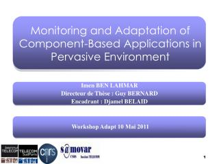 Monitoring and Adaptation of Component-Based Applications in Pervasive Environment