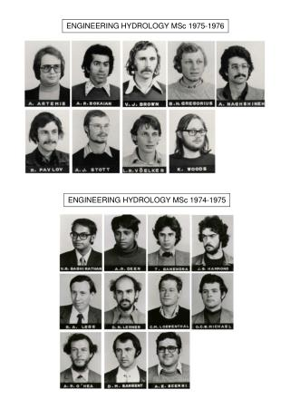 ENGINEERING HYDROLOGY MSc 1975-1976