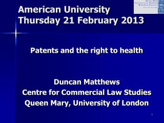 American University Thursday 21 February 2013