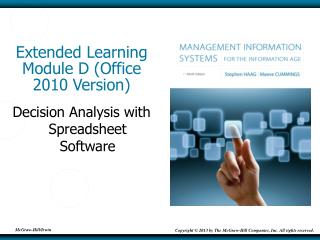 Extended Learning Module D (Office 2010 Version)
