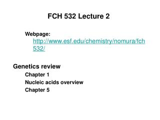 FCH 532 Lecture 2
