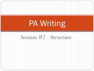 PA Writing