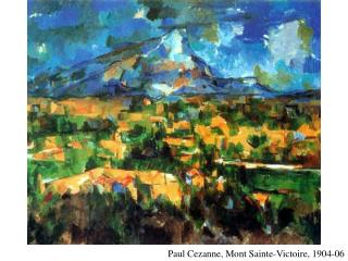 Paul Cezanne, Mont Sainte-Victoire, 1904-06