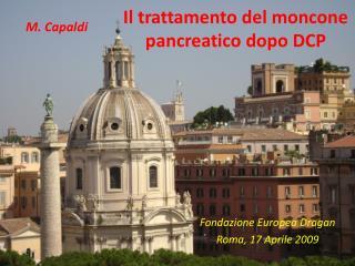 Il trattamento del moncone pancreatico dopo DCP