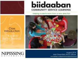 Class Introduction  CRJS 4937 Senior Seminar