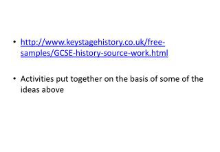 keystagehistory.co.uk/free-samples/GCSE-history-source-work.html