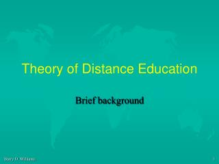 Theory of Distance Education