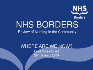 NHS BORDERS Review of Nursing in the Community