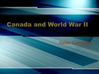Canada and World War II