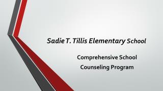 Sadie T.  Tillis  Elementary  School