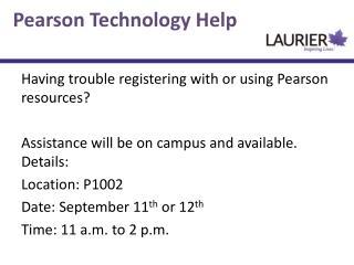 Pearson Technology Help