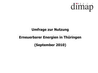 Umfrage zur Nutzung Erneuerbarer Energien in Thüringen (September 2010)