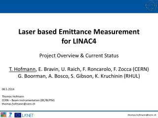 Laser  based Emittance Measurement for LINAC4