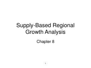 Supply-Based Regional Growth Analysis