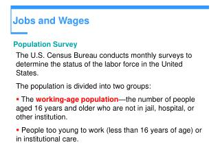 Jobs and Wages