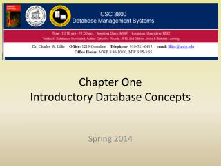 Chapter One Introductory Database Concepts