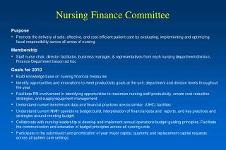 Nursing Finance Committee
