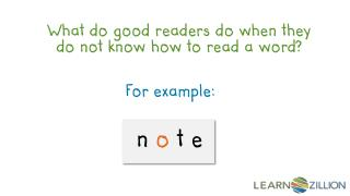 What do good readers do when they do not know how to read a word?